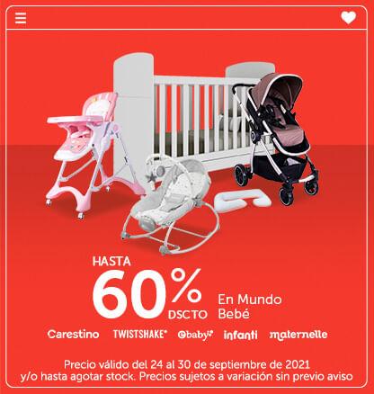 Hasta 60% en Mundo Bebé (Carestino, Twistshake, Ebaby, Maternelle, Kaligo Maternidad, Infanti)