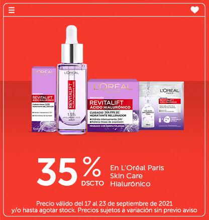 35% Dscto en L'Oréal Paris Skin Care Hialurónico