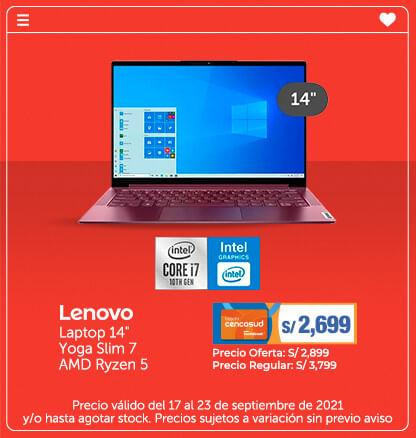 Lenovo Laptop 14 Yoga Slim 7 AMD Ryzen 5