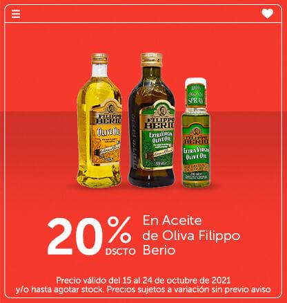 20% Dcto En Aceite de Oliva Filippo Berio