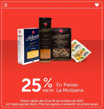 25% Dcto En Pastas La Molisana