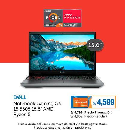 Dell Notebook Gaming G3 15 5505 15.6 AMD Ryzen 5