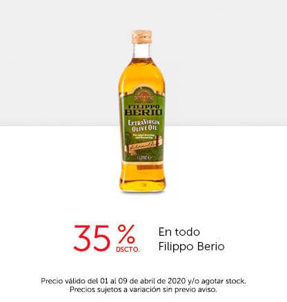 35% dscto en todo Filippo Berio