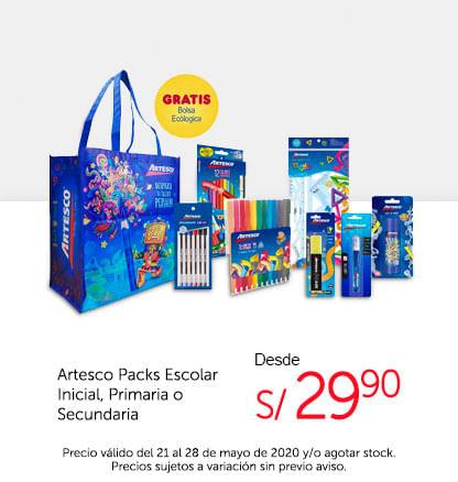 Artesco Packs Escolares Inicial, Primaria o Secundaria