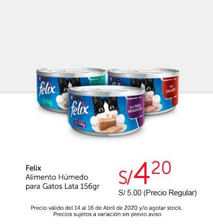 Oferta Felix Alimento Húmedo Gato Lata 156gr