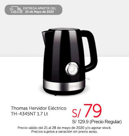 Thomas Hervidor Eléctrico TH-4345NT 1.7 Lt