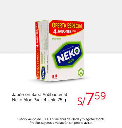 Oferta Especial 4 jabones Neko Unid 75g