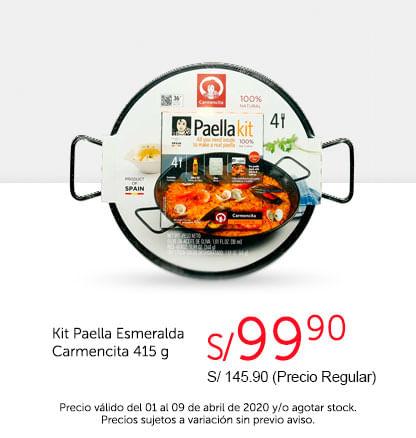Oferta Kit Paella Esmeralda Carmencita 415gr
