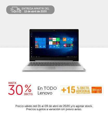 30% dscto en todo Lenovo