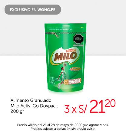 Alimento Granulado Milo Activ-Go Doypack 200 gr