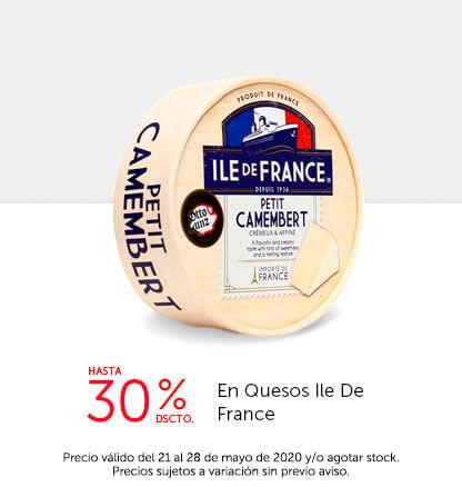 Hasta 30% Dscto. en Quesos Ile De France