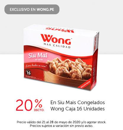 20% Dscto. en Siu Mais Congelados Wong Caja 16 Unidades