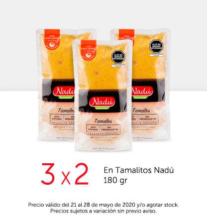 3x2 en Tamalitos Nadú 180 gr