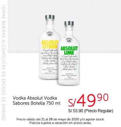 Vodka Absolut Vodka Sabores Botella 750 ml