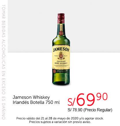 Jameson Whiskey Irlandés Botella 750 ml
