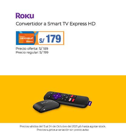 Roku Convertidor a Smart TV Express HD