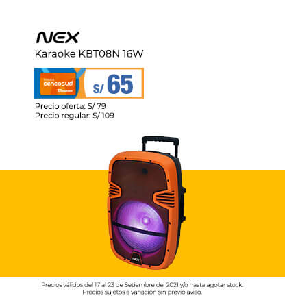 Nex Karaoke KBT08N 16W