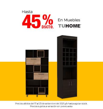 Hasta 45% en Muebles Tuhome