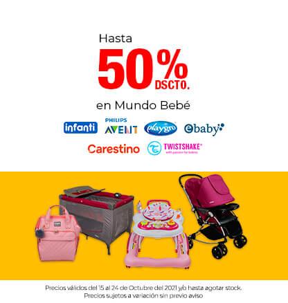Hasta 50% dscto en Mundo Bebé (Infanti, Avent, Playgro, Ebaby, Carestino, Twistshake)