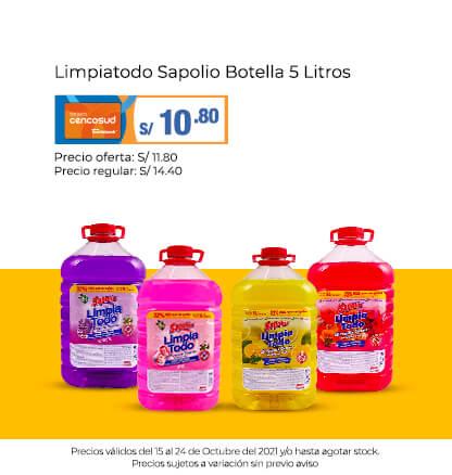 Limpiatodo Sapolio Botella 5 Litros