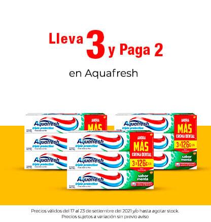 Lleva 3 y paga 2 en Aquafresh