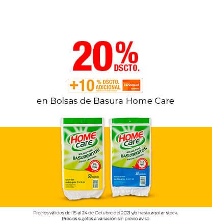 20% Dcto en Bolsas de Basura Home Care