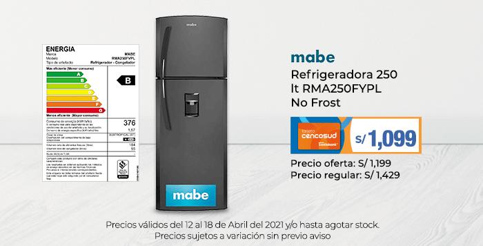 Mabe Refrigeradora 250 lt RMA250FYPL No Frost