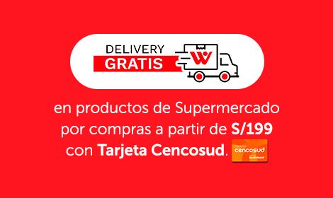 Delivery gratis supermercado a partir de 199