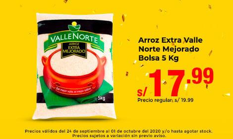 Arroz Extra Valle Norte Mejorado Bolsa 5 Kg