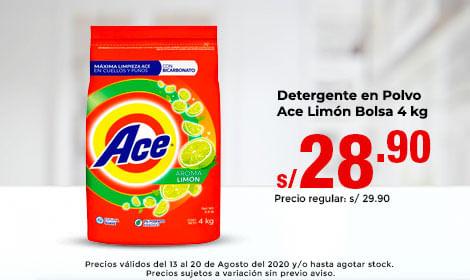 Detergente en Polvo Ace Limón Bolsa 4 kg