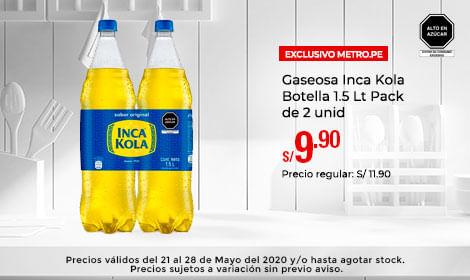 Gaseosa Inca Kola Botella 1.5 Lt Pack de 2 unid