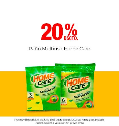 20% Dscto en Paños Multiusos Home Care